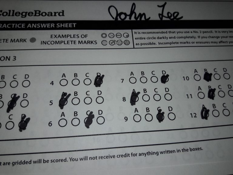 Scan Your SAT Practice Test Answers Using Camscanner
